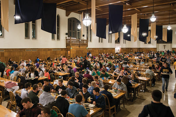South Dining Hall, photo by Matt Cashore '94