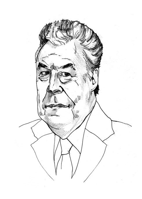 Peter King, illustration by Emmett Baggett