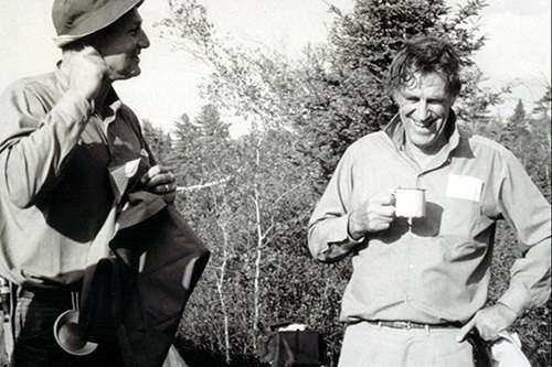 Zeke O'Connor, left, with Edmund Hillary