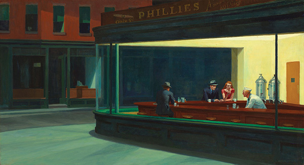 Edward Hopper, Nighthawks, 1942, oil on canvas, 84