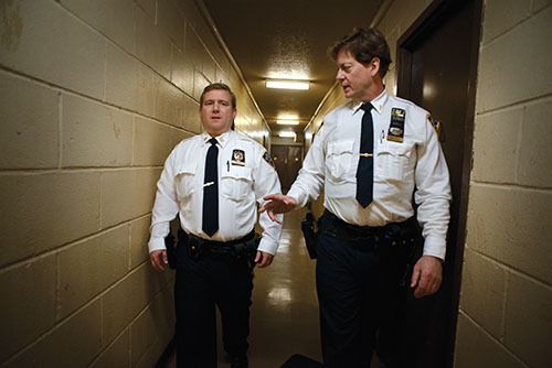 Together, Malin (left) and Mattioli have more than 40 years with the NYPD, photo by Antonio Bolfo