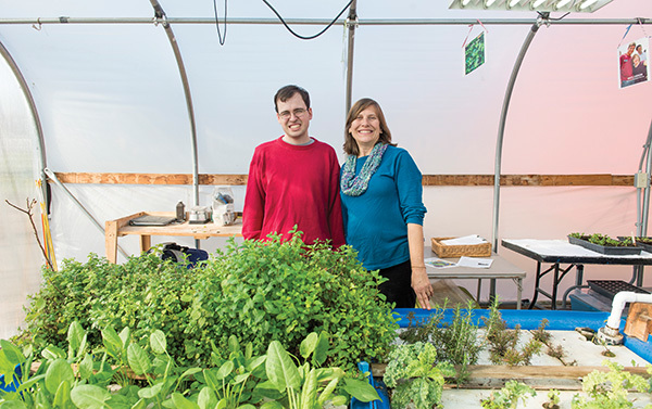Chris Tidmarsh, left, and Jan Pilarski, founders of Green Bridge Growers. Photo: Barbara Johnston