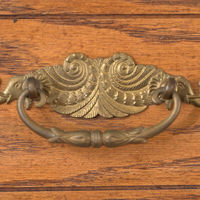 . . . as well as this drawer front from the sideboard in the Clapps' dining room.