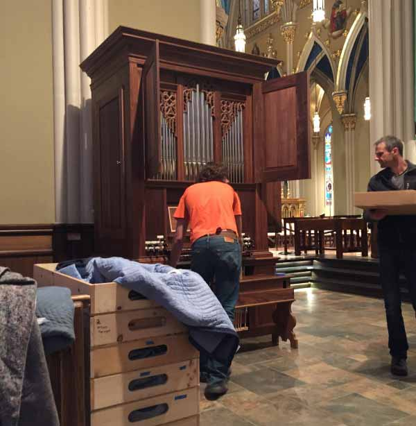 Fritts loans Notre Dame a fourth organ for use in the basilica once the Holtkamp is removed.