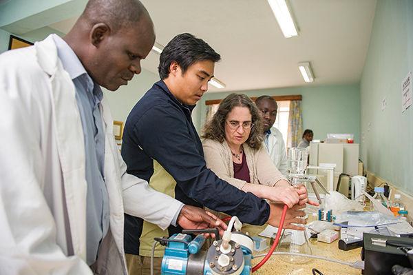 In Kenya, Lieberman and colleagues lay the groundwork for better detection of inadequate and counterfeit medication. photo: Barbara Johnston