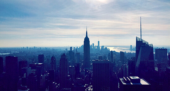 The view from Top of the Rock, photo by the author.