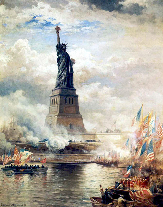 Edward Moran, The Unveiling of the Statue Of Liberty, Enlightening the World, 1886