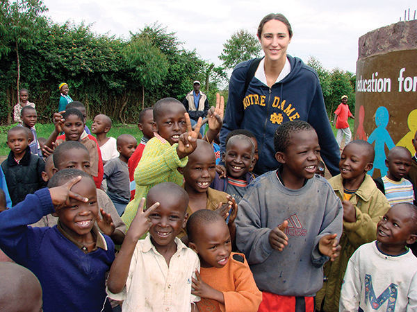 Ruth Riley '01 helped arrange the 2015 student-athlete experience in South Africa and, as an MBA student at the time, went along on the trip.