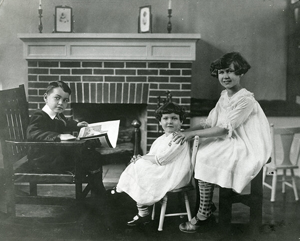 Young Ted with his older sister Mary Monica and younger sister Betty.