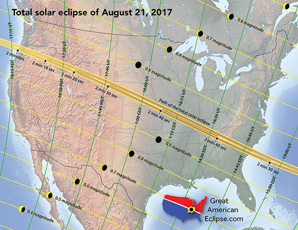 Ruskin Ga Eclipse Map