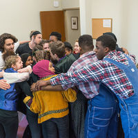 A group hug before showtime.