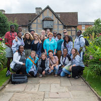 After arriving Thursday in England, the Robinson Shakespeare Company toured the Shakespeare Birthplace in Stratford-upon-Avon.