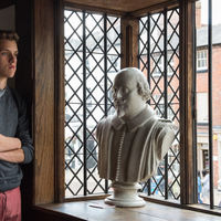 Forest Wallace takes in the history at the Shakespeare Birthplace.