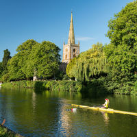 The morning of the Robinson Shakespeare Company's performance at Shakespeare's New Place dawned sunny on the River Avon.