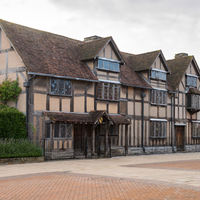 William Shakespeare's birthplace in Stratford-upon-Avon, England.