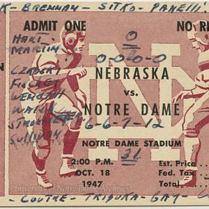 Football Tickets 1947