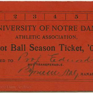 Football Tickets 1903