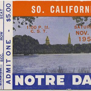 Football Tickets 1957