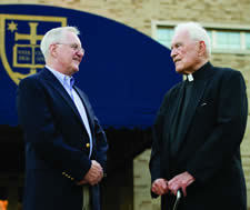 Tom Scanlon & Father Hesburgh photo by Matt Cashore