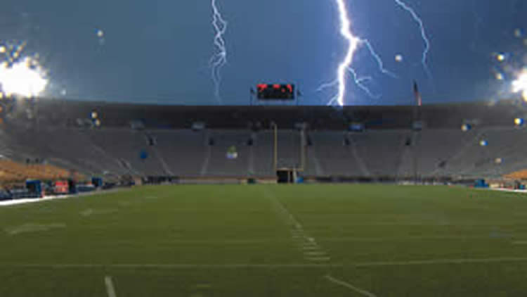 Stadium storm photo courtesy NBC Sports Group