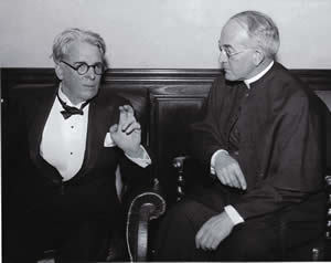William Butler Yeats with then-ND-president Father Charles O'Donnell, CSC, in 1933