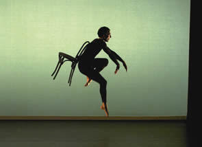 Photo of Merce Cunningham Dance Company dancer by Tadashi Omura
