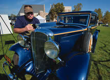 Photo of George Gajdos and the Rockne car by Matt Cashore