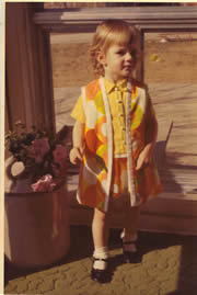 Paige Wiser at age 3 in Pucci knock-off