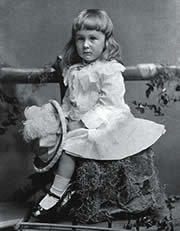 Franklin Delano Roosevelt as a child, photo copyright Corbis