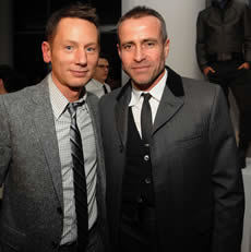 GQ editor Jim Nelson with designer Thom Browne/Getty Images