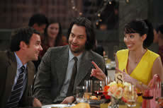 Dan O'Brien, Chris D'Elia and Whitney Cummings in Whitney pilot show