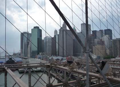 Financial District from Brooklyn Bridge