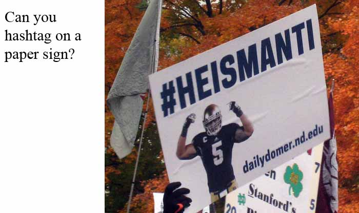 Poster from ESPN College GameDay on October 13, 2012