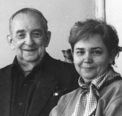 Nikolai Nikoladze and his wife, Zinaida Leonidovna Polievktova-Nikoladze, in 1987