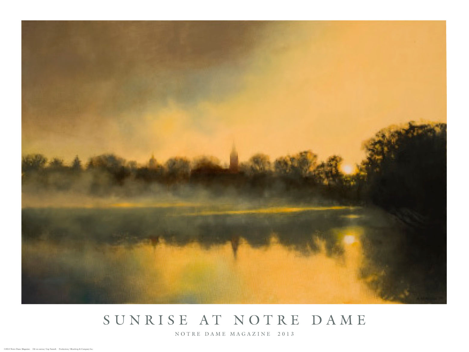 Sunrise at Notre Dame, artwork by Cap Panell