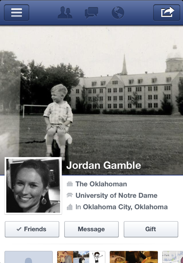 Jordan Gamble's Facebook