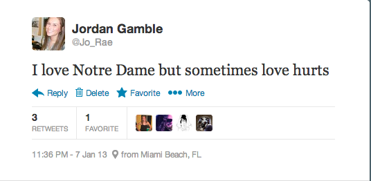 Gamble's Tweet